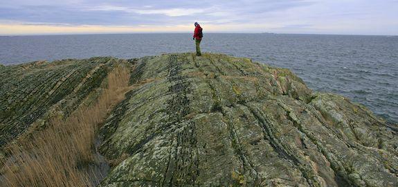 Langsgående furer på Løvallodden