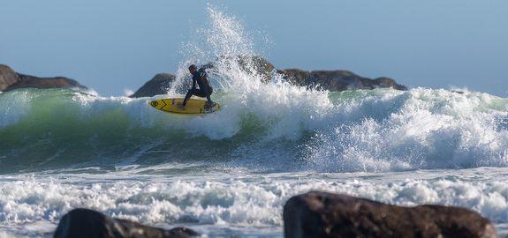 Surfing på Saltstein